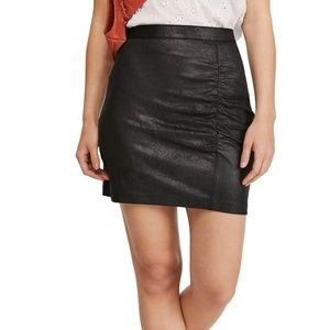NWT FP Rumi Ruched Faux Leather Mini